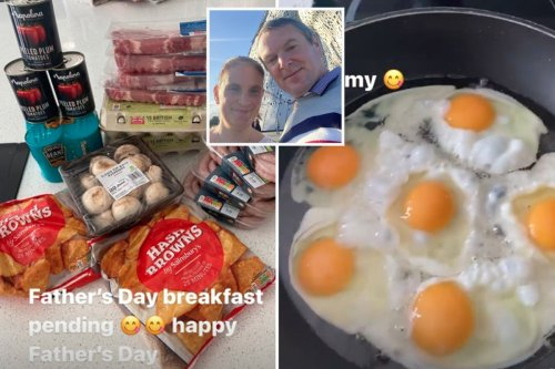 Mum-of-22 Sue Radford shows off bumper Father's Day breakfast for husband Noel