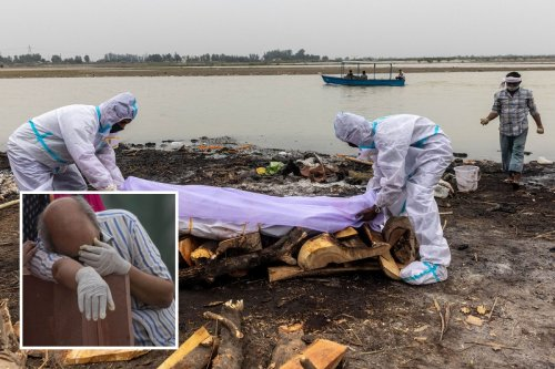 Rotting 'Covid' bodies float in Ganges amid 'super spreader' festivals