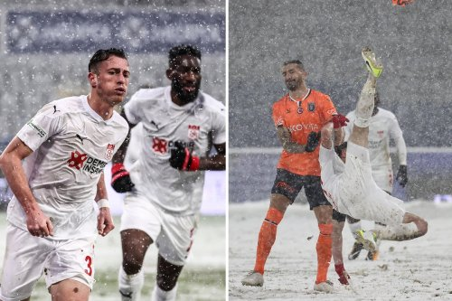Sivasspor wear white for snowy Istanbul game, but how many players can you spot?