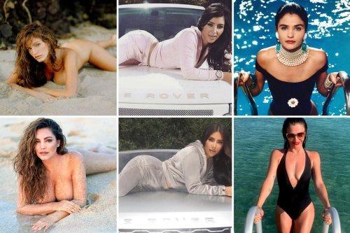 Look familiar? Model Helena, Kim Kardashian and Kelly Brook recreate old pics