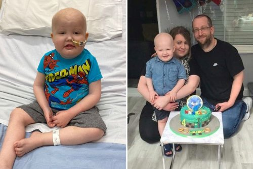 Mum's warning after bruises on three-year-old's legs turned out to be CANCER