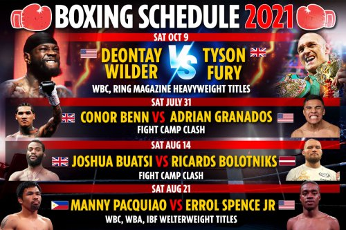 Boxing schedule 2021: All the best upcoming fights, undercards and dates