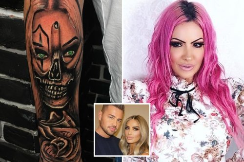 Katie Price's fiance Carl Woods trolled over new tattoo of her - with fans saying it looks like her rival Jodie Marsh