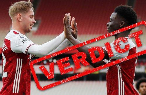 Arsenal verdict: Saka & Smith Rowe star but win doesn't gloss over Euro humbling