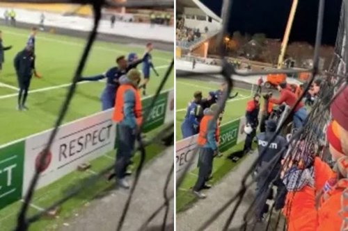 Abraham appears to row with Roma fans after 6-1 battering by minnows Bodo/Glimt