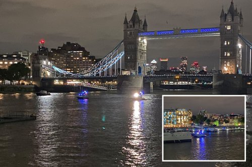 Police boats & chopper search Thames as hundreds party at Euro 2020 fan zone