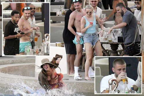 England aces Luke Shaw and Jack Grealish relax by pool on Mykonos holiday