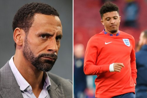 Rio baffled by Sancho snub as stats show he's second most creative England star