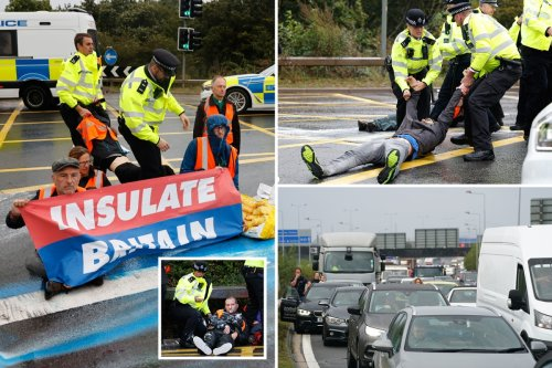 Traffic chaos as Insulate Britain eco-maniacs protest at busy M25 AGAIN