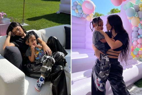 Kylie Jenner wears $4K joggers at Khloe's daughter's birthday party
