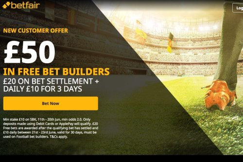 Euro 2020: Bet £10 and get £50 in free bets with Betfair for Bet Builders
