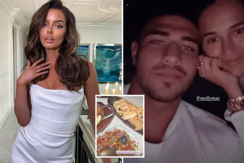 Maura Higgins looks sizzling as she crashes Molly-Mae Hague & Tommy Fury's date