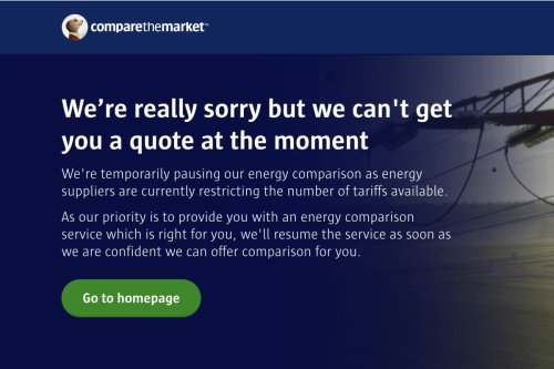 Compare the Market FREEZES its energy switching service