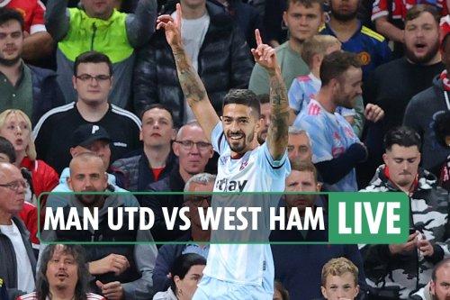 Man Utd vs West Ham LIVE: Latest updates from Carabao Cup third round