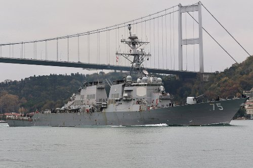 US warships heading to Ukraine TURN BACK after warning from Russia
