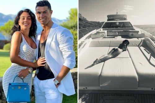 Cristiano Ronaldo poses with Georgina Rodriguez before romantic trip on yacht
