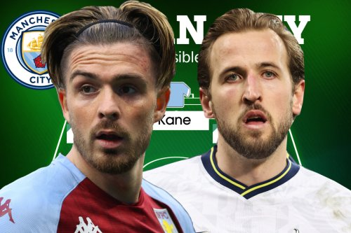 How Man City could line up with Kane & Grealish two of six England heroes