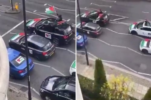 Convoy blasts 'f*** the Jews, rape their daughters' on PA system in North London