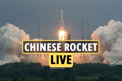 Huge 18 tonne section of plunging Chinese rocket burns and breaks up in sky