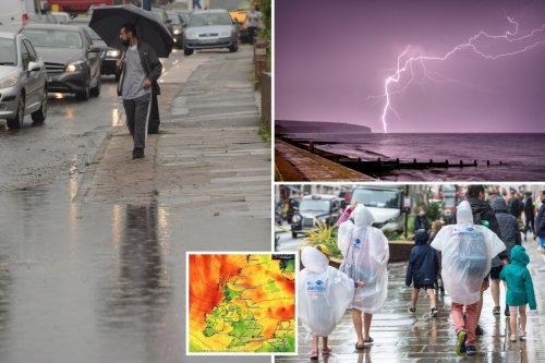 Brits to be hit by even MORE rain with three-day deluge before August sizzler