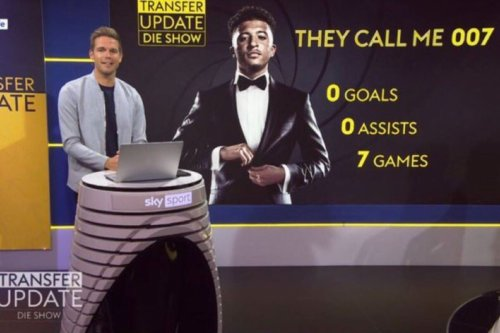 Sancho brutally mocked by Sky with 007 comparison on his shocking stats at Utd