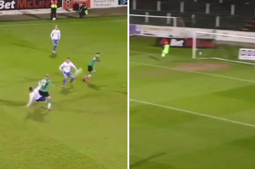 'Best own goal ever' as Coleraine ace hits 35-yarder into net from fierce tackle