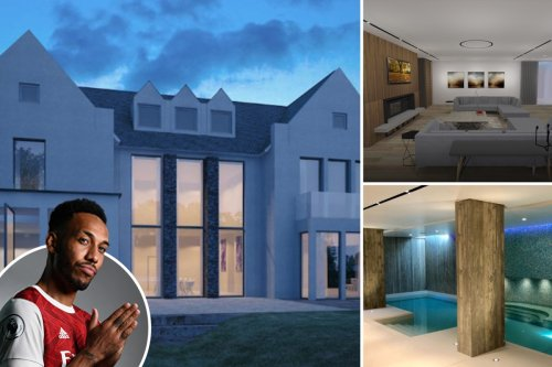 Inside Aubameyang's luxury new bespoke mansion including Jacuzzi, bar & gym