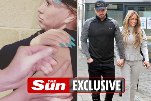 Katie Price and Carl Woods sick after 'bad' reaction to first Covid jab