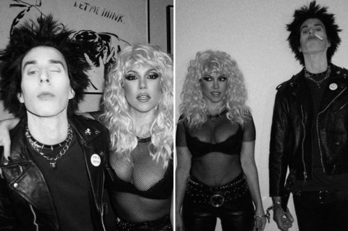 Kourtney Kardashian & Travis Barker dress up as couple Sid & Nancy for Halloween