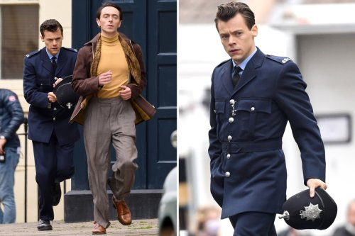 Harry Styles transforms into handsome cop after Brits success as he films