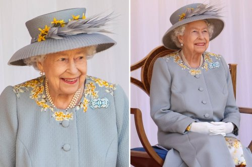 The Queen's sweet nod to her late mum with pretty aquamarine brooch for Trooping The Colour celebrations