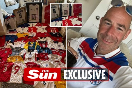 England mad dad has shirts from almost every year since he was born