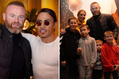 Coleen and Wayne Rooney praised by Salt Bae as they take four sons for £640 gold steak at Nusr-Et Steakhouse
