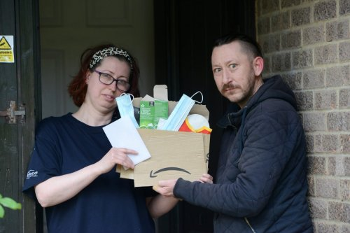 Mum disgusted as Amazon delivers package filled with Maccie's wrappers