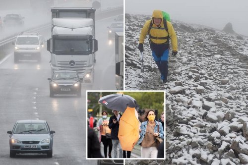 SNOW hits some areas of Britain after mercury plummets 10C in a week