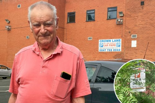 Grandpa 'ruined' after being hit with £272.55 fine over 50p parking debt
