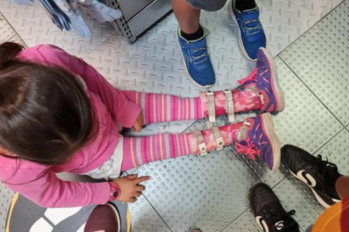 Mum 'broken' after disabled daughter, 7, is forced to sit on floor of shop