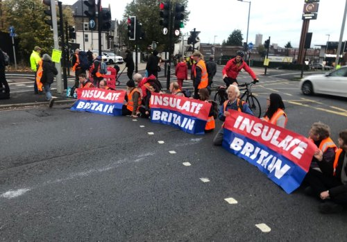 Half-term traffic chaos as eco-mob block road near M25 and A40 in West London