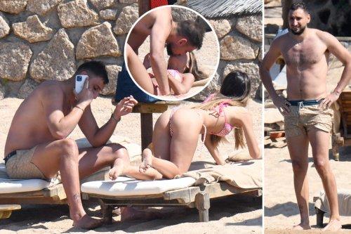 Donnarumma cosies up with girlfriend Alessia Elefante as Italy hero enjoys hols