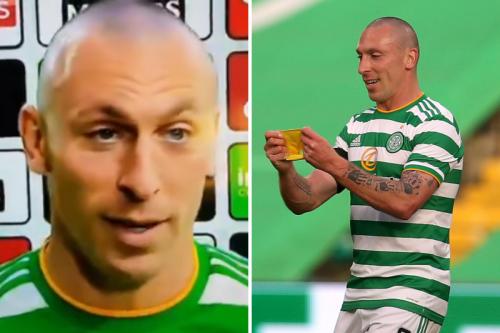 Celtic skipper Scott Brown drops f-bomb live on TV after last home game