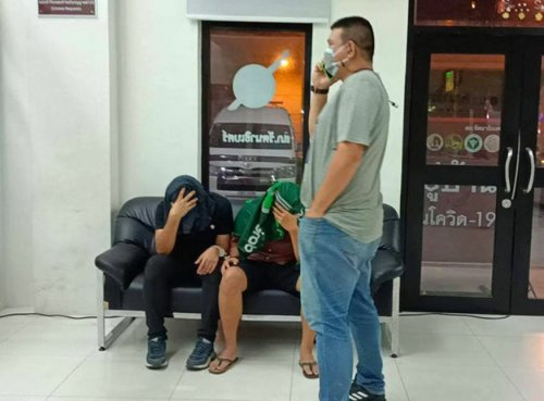 Police arrest 2 men for allegedly trying to extort 2 million baht from a man