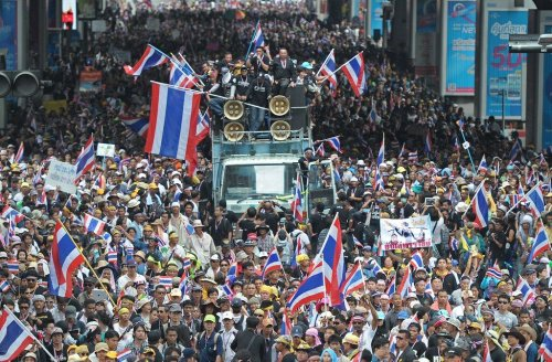 Attendance lessening for Thai democracy protesters