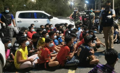 Songkhla beach party sees 61 arrested violating Covid-19 rules