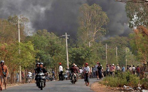 More bitter clashes yesterday in Myanmar with the toll rising to 618