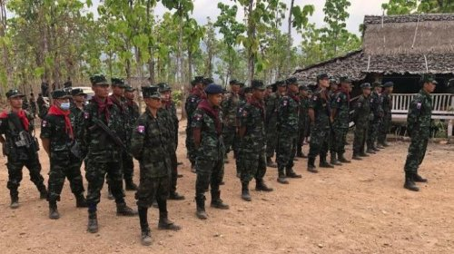 Anti-coup Burmese protesters take up military training in jungles of Myanmar