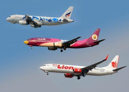 August flight plans: Bangkok Airways, Nok Air, Thai Lion