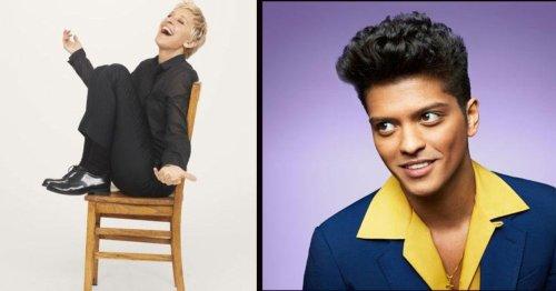 Ellen DeGeneres Hysterically Recreates Bruno Mars' Video