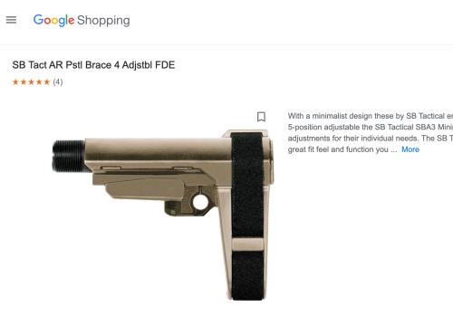 Major Online Marketplaces Allowed the Sale of Pistol Braces, Despite Bans