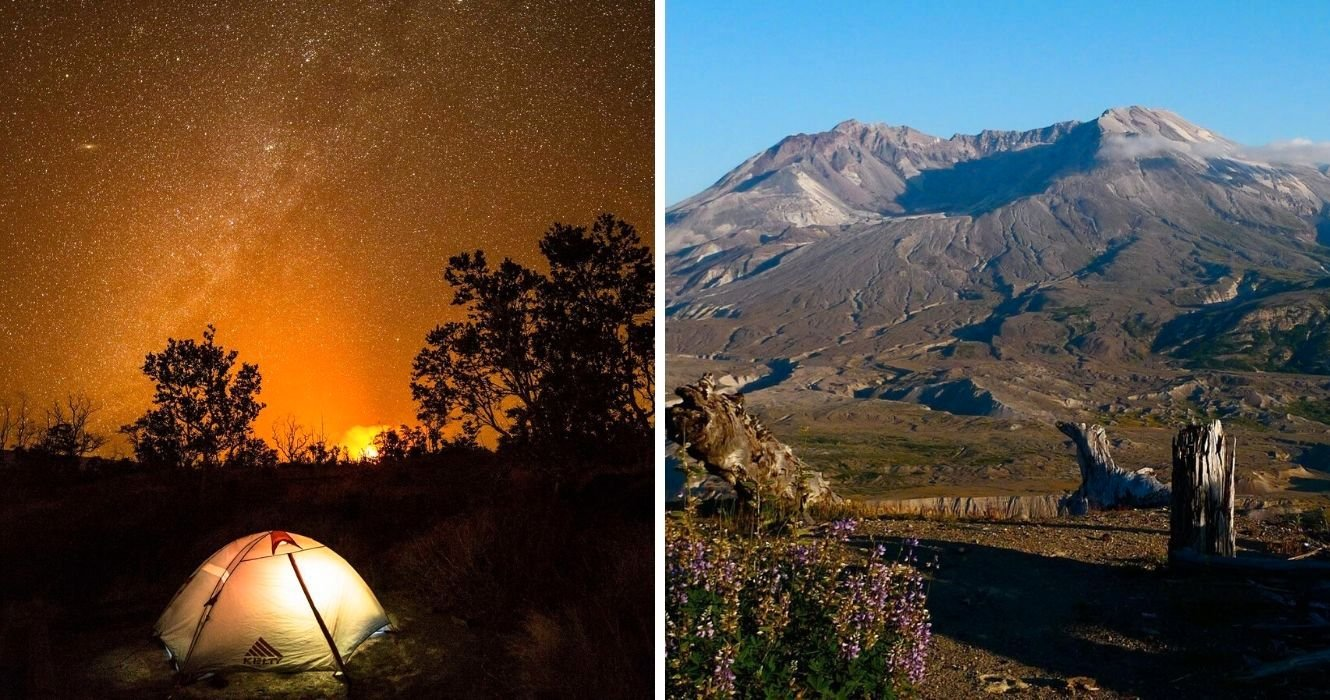 Feel Like Camping Next To A Volcano? Here's Where You Can Do It In The US
