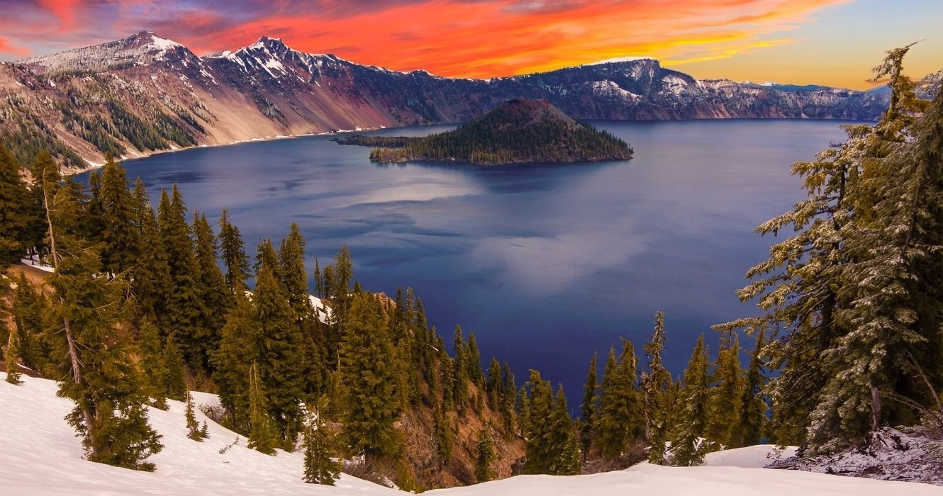 Yes, You Can Camp At The Edge Of The Deepest U.S. Lake... And It's Also A Volcano
